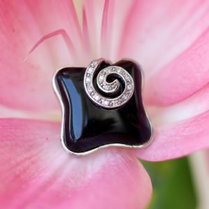 Handmade Black and White Onyx Ring