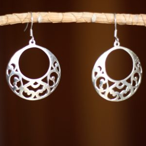 Handmade Mashrabiya Dangle Earrings in Sterling Silver