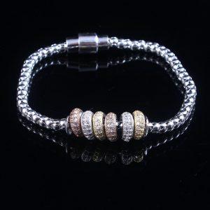 Circle Magnetic Clasp Silver Bracelet