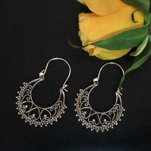 Handmade Indian Silver Earrings