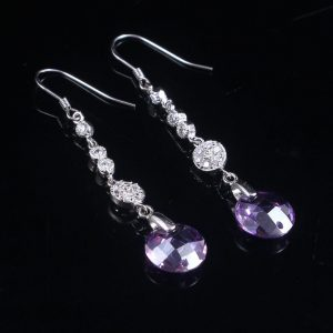 Crystal Bridal Silver Earrings
