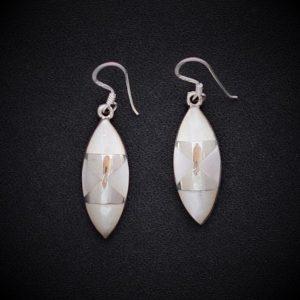 Trendy White MOP Sterling Silver Earrings
