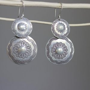 Aesthetic Mandala Silver Earrings