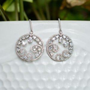 Swarovski Crystal Silver Earrings