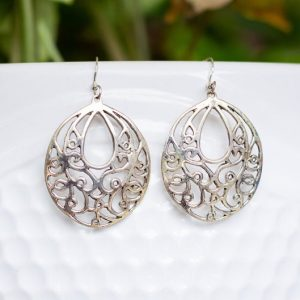Art Nouveau Pure Silver Earrings