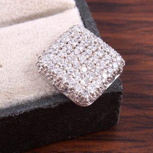 Pure Silver Square Pendant