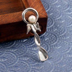 Delicate Silver Pearl pendant