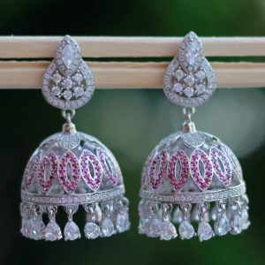 Traditional Silver Jhumka Earrings