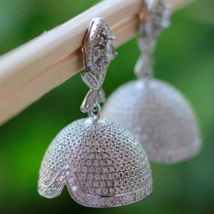 Handmade Sterling Silver Jhumkis
