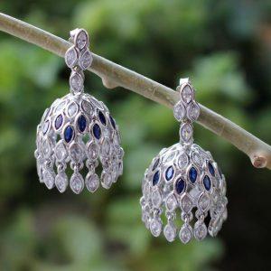 Handmade Silver Jhumka Earrings