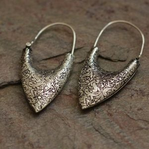 Intricately Designed Traditional Silver Earrings