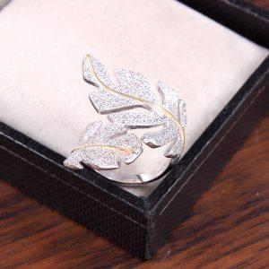 Leaf Wrap Engagement Ring