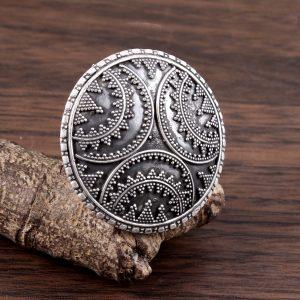 Shield Ring in Sterling Silver