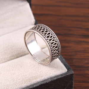 Pure Sterling Silver Thumb Ring/ Band