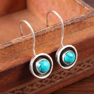 Turquoise Earrings in Sterling Silver 925