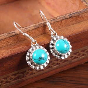Turquoise Trendy Dangles in Sterling Silver