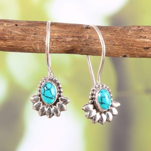 Turquoise Lightweight Sterling Silver Earrings