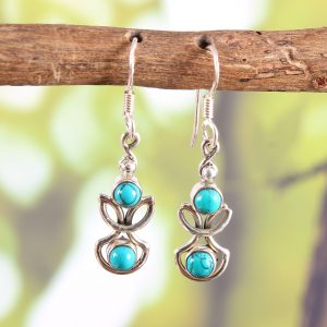 Aesthetic Sterling Silver Turquoise Earrings