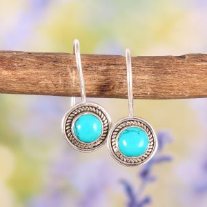925 Sterling Silver Turquoise Earrings