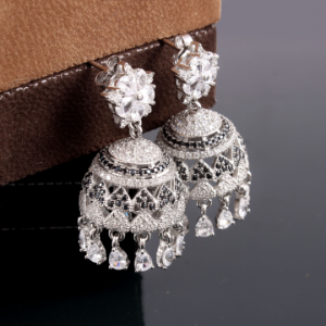 Aesthetic Pure Silver Jhumka Earrings