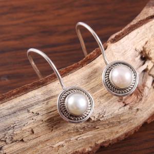 Pearl Sterling Silver Aesthetic Earrings