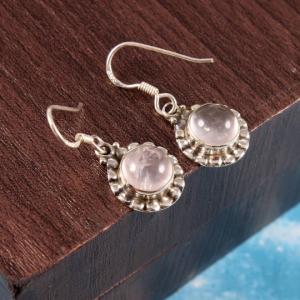 Moonstone Sterling Silver Trendy Earrings