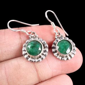 Green Onyx Sterling Silver Trendy Earrings